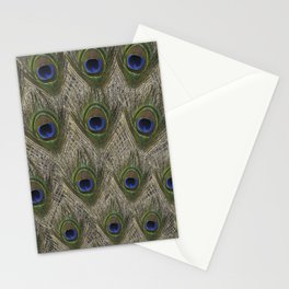Peacock tail Stationery Cards