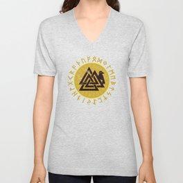 Valknut | Viking Warrior Symbol Triangle Unisex V-Neck