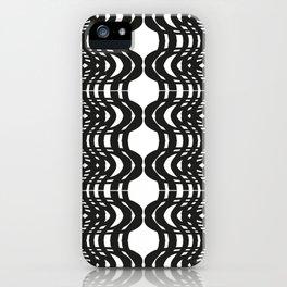 Black and White Swish iPhone Case