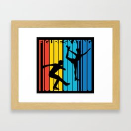 Retro Style Figure Skating Figure Skater Framed Art Print