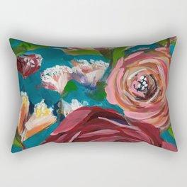 Aqua Bud Rectangular Pillow