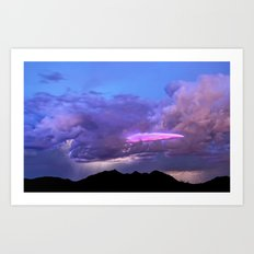 2015 Arizona Monsoon Storm UFO Photo Bomb Art Print