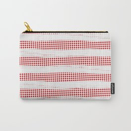 Red Diamonds Gross Stripes Carry-All Pouch