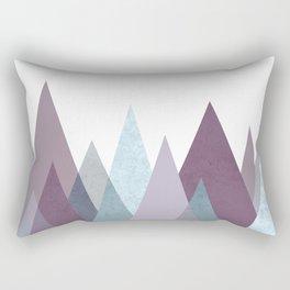 PLUM TURQUOISE MOUNTAINS GEOMETRIC Rectangular Pillow