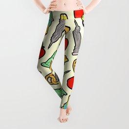 New York, New York Pattern Leggings