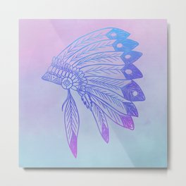 Purple Headdress Metal Print
