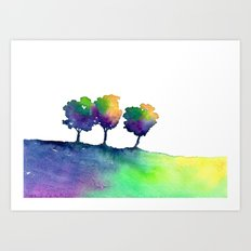 Hue Tree Trio Art Print