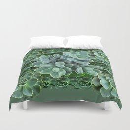 ARTISTIC GRAY-GREEN SUCCULENT ART Duvet Cover