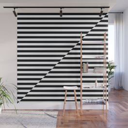 op art - inverted black and white stripes Wall Mural