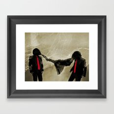 Mr. Glitch: An Enemy is You Framed Art Print