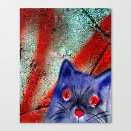 Gordon The Graffiti Cat Canvas Print