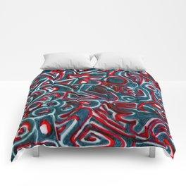 Jack Teal/Red Comforters
