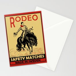 The Vintage Rodeo Safety Matches Stationery Cards