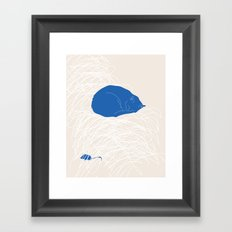 Blue Cat poster Framed Art Print