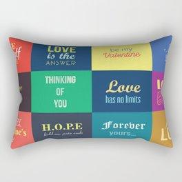 love messages Rectangular Pillow