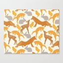 Deer Fox Rabbit Chick Playing by fbmovercrafts