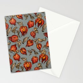 red physalis Stationery Cards