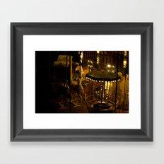 In the night. Framed Art Print