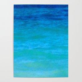 Caribbean Water   Blue Turquoise Sea   Nadia Bonello   Canada Poster