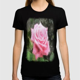 Pink Roses in Anzures 4 Watercolor T-shirt