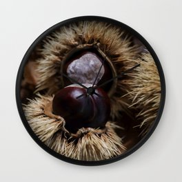 Autumn. Chestnuts Wall Clock