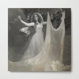 White Fairy Metal Print
