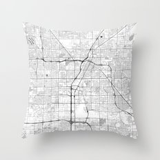 Las Vegas Map Gray Throw Pillow