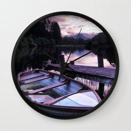 Summer's Evening On Loch Ard Wall Clock