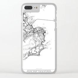 Rio de Janeiro Map White Clear iPhone Case