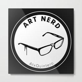 Art Nerd Glasses Metal Print