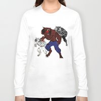 werewolf Long Sleeve T-shirts featuring werewolf by American Artist