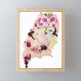Owl of Many Colors Framed Mini Art Print