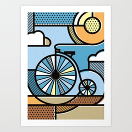 Riding through clouds Art Print