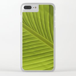 Banana Leaf Color Photo Detail, V002 Clear iPhone Case
