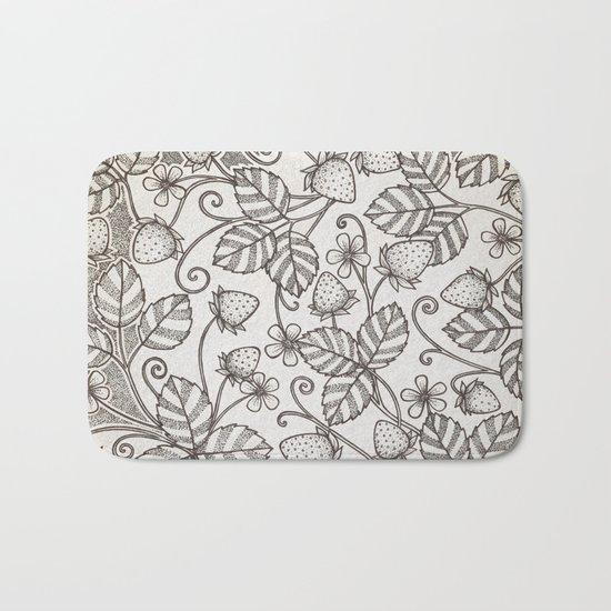 Strawberry pattern 2 Bath Mat