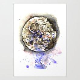 Star War Art Painting The Death Star Art Print