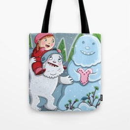 Valentine Yeti Tote Bag
