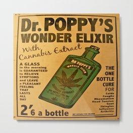 Vintage poster - Dr. Poppy's Wonder Elixir Metal Print