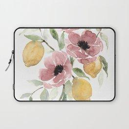 Watercolor-poppies-and-lemons Laptop Sleeve