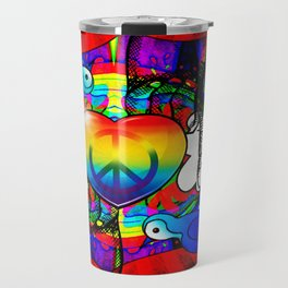 peace & love Travel Mug