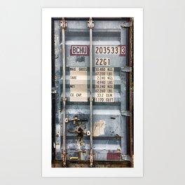 Cargo container Art Print