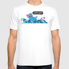 Surf's up!!! White Mens Fitted Tee MEDIUM