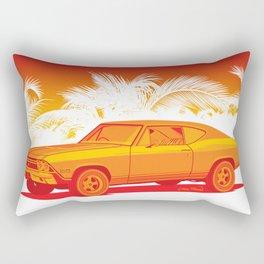 Orange Chevelle Rectangular Pillow