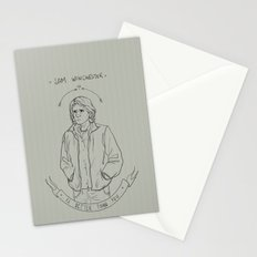 sam winchester is better than you Stationery Cards