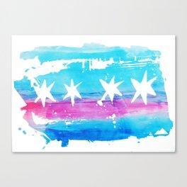 Chicago Flag Single Pull Canvas Print