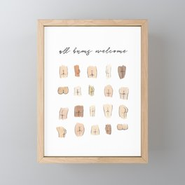 All bums welcome Framed Mini Art Print