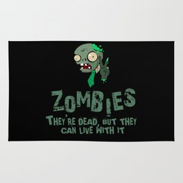 Zombies they're dead, but they can live with it Rug