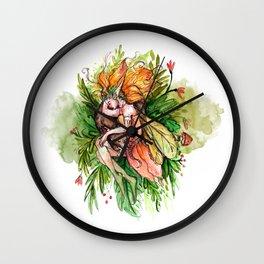 Dream of the Fern Fairy Wall Clock