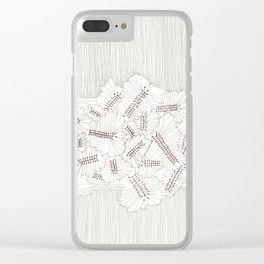 Evolutions - Fossilized Layers Clear iPhone Case