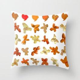 Orange Peel Party Throw Pillow